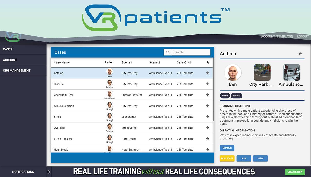 Case Authoring Tool Patient Assessment