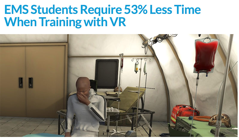 EMS Students Require 53% Less Time When Training with VR