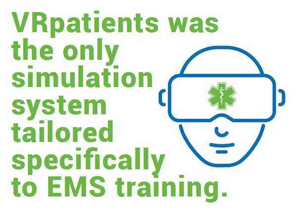 VRpatients is Tailored Tailored EMS Training